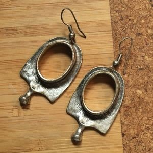 Fun Design! Pewter Earrings